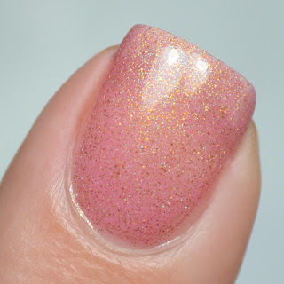 pink polish with shifting shimmer