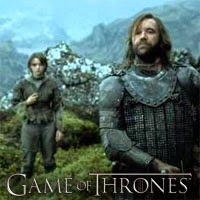 "Arya and the Hound en ""Game of Thrones 4x10"""