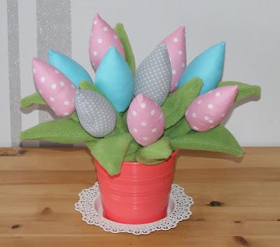 Bukiety tulipanów