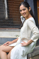 Radhika Cute Young New Actress in White Long Transparent Kurta ~  Exclusive Celebrities Galleries 023.JPG
