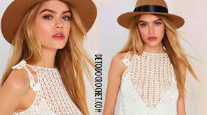 Cómo tejer Top Crochet / moldes y patrones