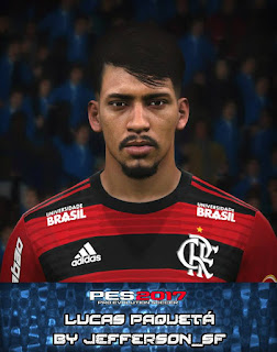 PES 2017 Faces Lucas Paquetá by FaceEditor Jefferson_SF