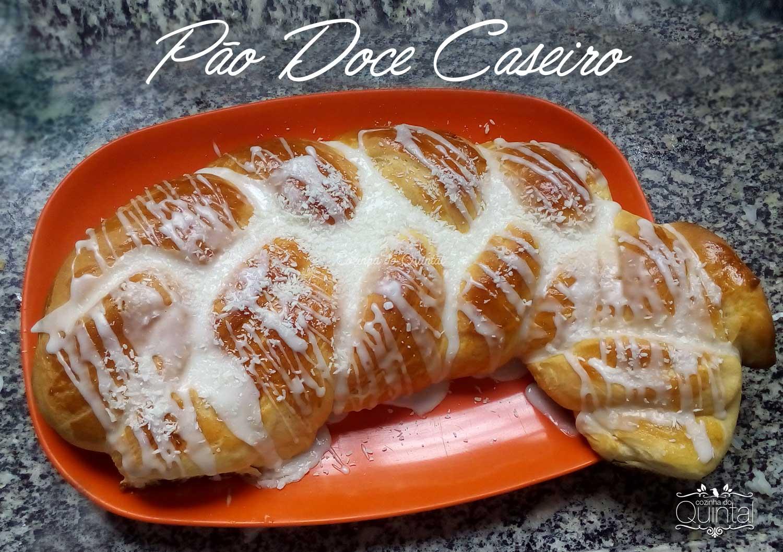 Pão Doce de leite condensado na massa: fácil de fazer e muito, muito bom!!
