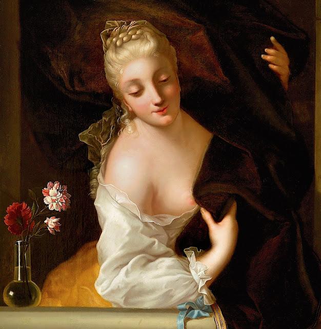 Jean Raoux: Donna alla finestra (dettaglio)