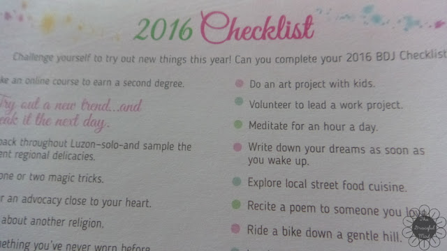 2016 Belle De Jour Power Planner: 2016 Checklist Page Picture (Review at http://www.TheGracefulMist.com/)