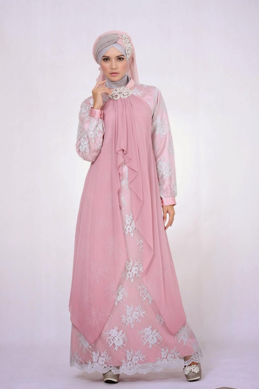 16 Contoh Desain Baju Gaun Muslim Wanita Terbaru 2015
