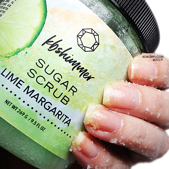 xoxoJen's swatch of KBShimmer Lime Margarita Scrub