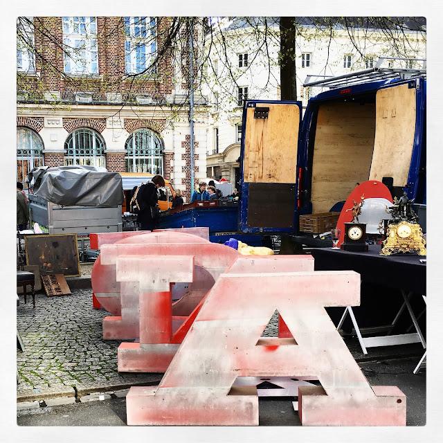 Lettres / Brocante d'Amiens, avril 2016 / Photos Atelier rue verte /