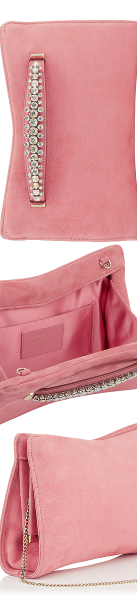 JIMMY CHOO VENUS CLUTCH IN PINK