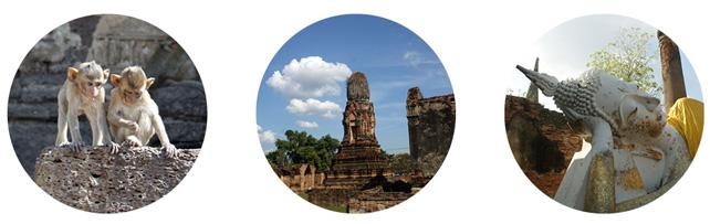 Lopburi, Affen im Wat