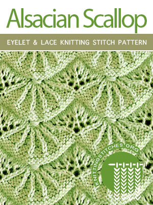 Eyelet & Lace Knitting Stitch Pattern Free