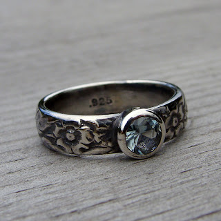 sapphire silver ring