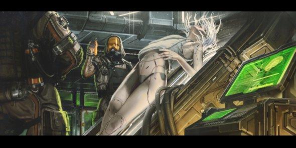 Jude Smith artstation ilustrações ficção científica arte cyberpunk