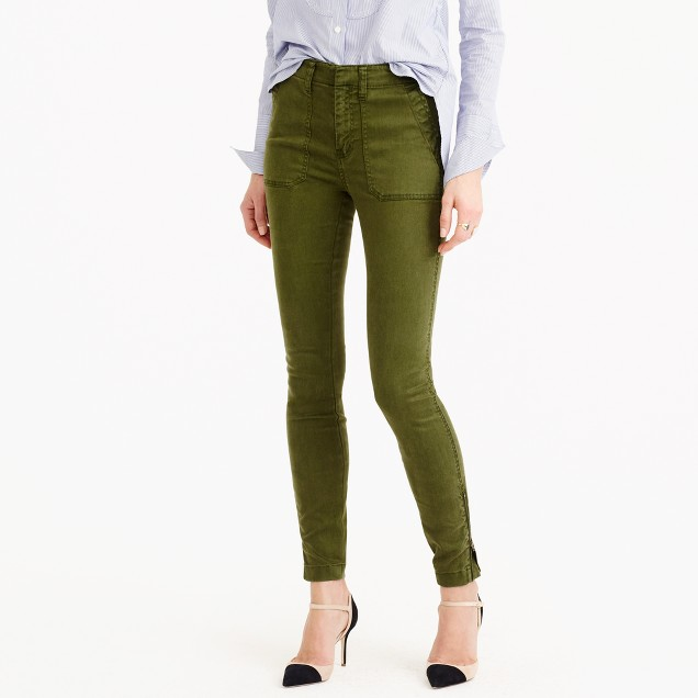 J Crew Skinny Stretch Cargo Pant With Zippers