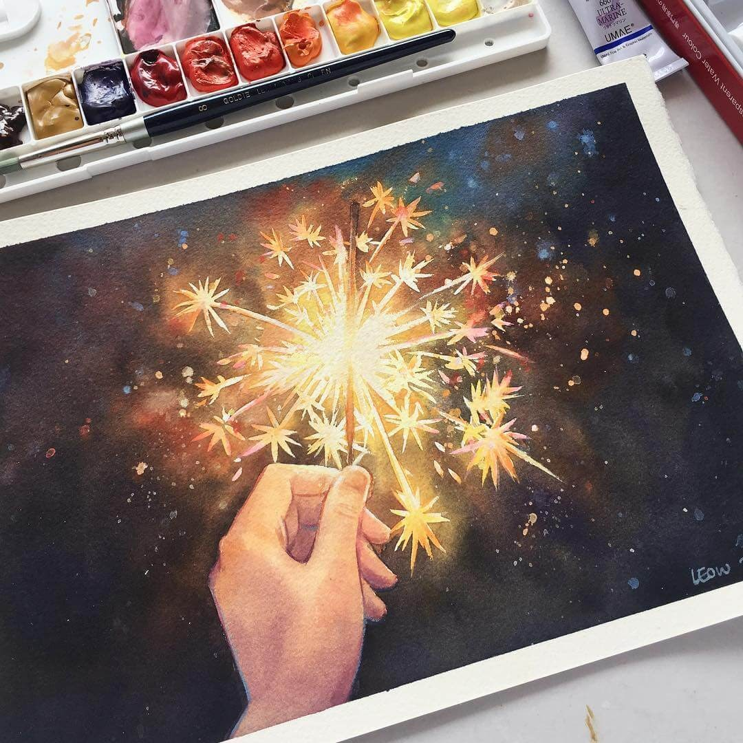 12-Sparklers-Leow-Fantastic-Mix-of-Watercolor-Paintings-www-designstack-co