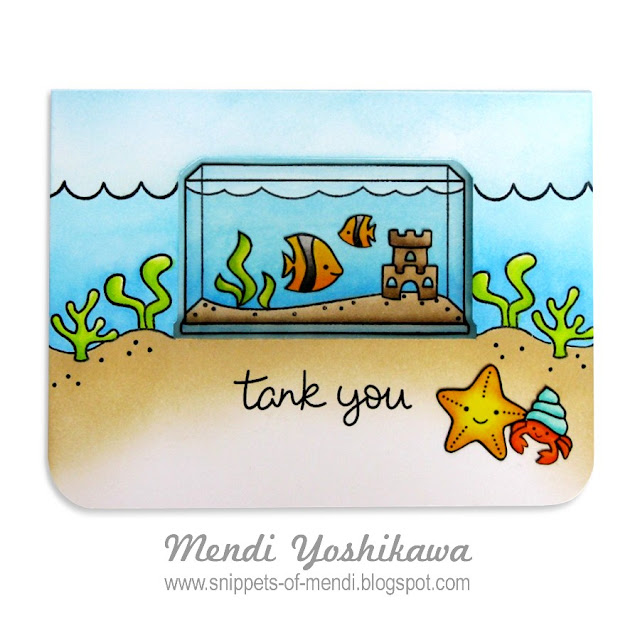Lawn Fawn Fintastic Friends Window Card by Mendi Yoshikawa
