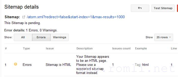 Mengatasi Your Sitemap appears to be an HTML page. Please use a supported sitemap format instead
