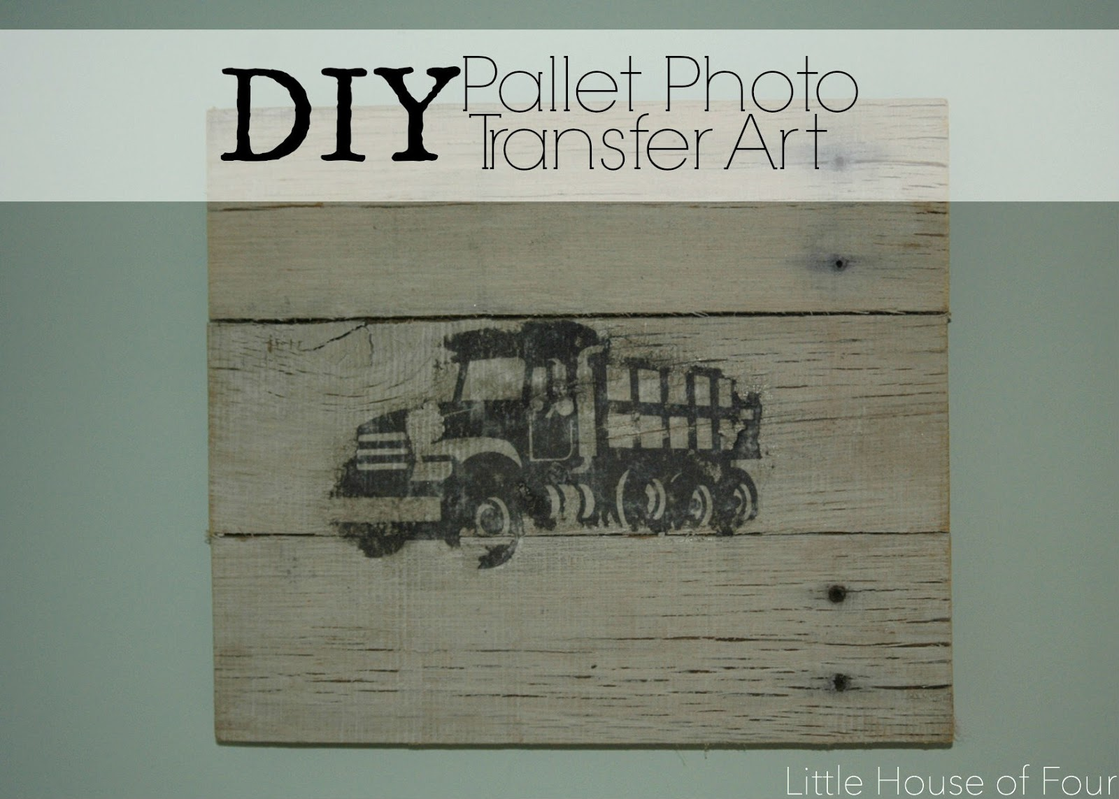 Rustic photo transfer pallet wall art