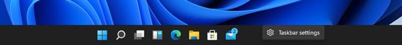 Open the Windows 11 Taskbar Settings