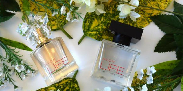 Avon LIFE by KENZO Takada, an exclusive perfume couple for him and her. Bottle design