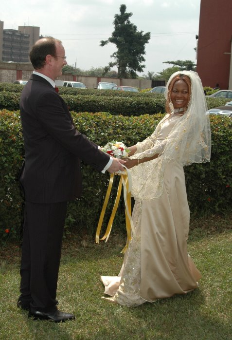 Goldie's husband share their wedding photo