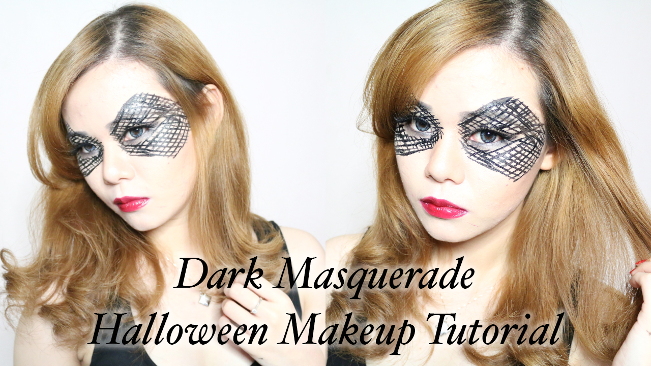 makeup, tutorial, halloween makeup, dark masquerade, mask, masquerade, halloween makeup tutorial, video, youtube, jeanmilka, jean milka,