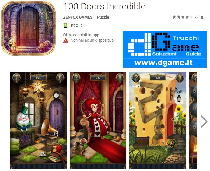Soluzioni 100 Doors Incredible livello 101 102 103 104 105 106 107 108 109 110 | Trucchi e Walkthrough level