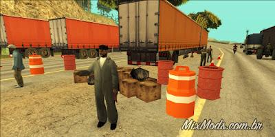gta sa san mod cleo greve caminhoneiros caminhões