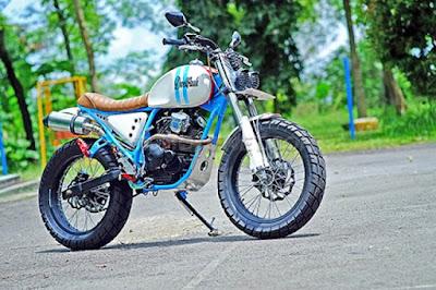 Modifikasi Yamaha Scorpio Gaya Scrambler