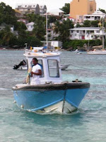 Navette de pêcheur pour l'Ilet Gosier