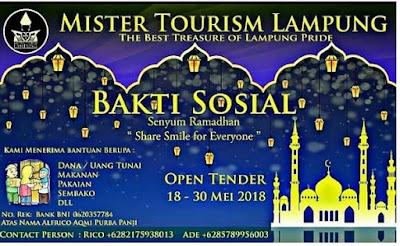 Mister Tourism Lampung present Senyum Ramadhan