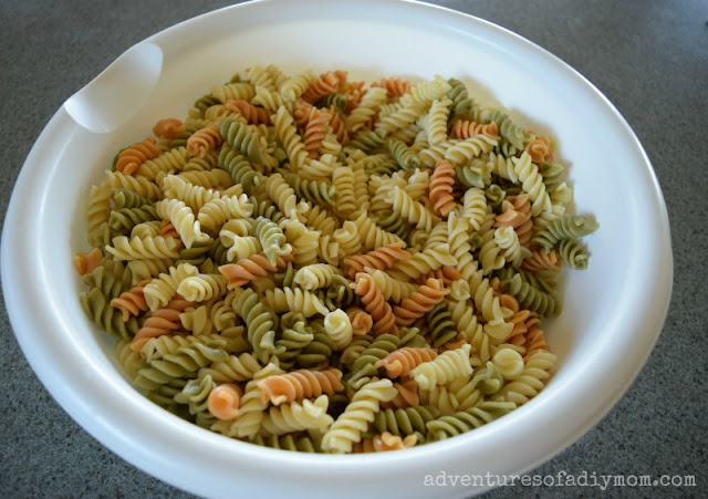 pasta salad ingredients - noodles
