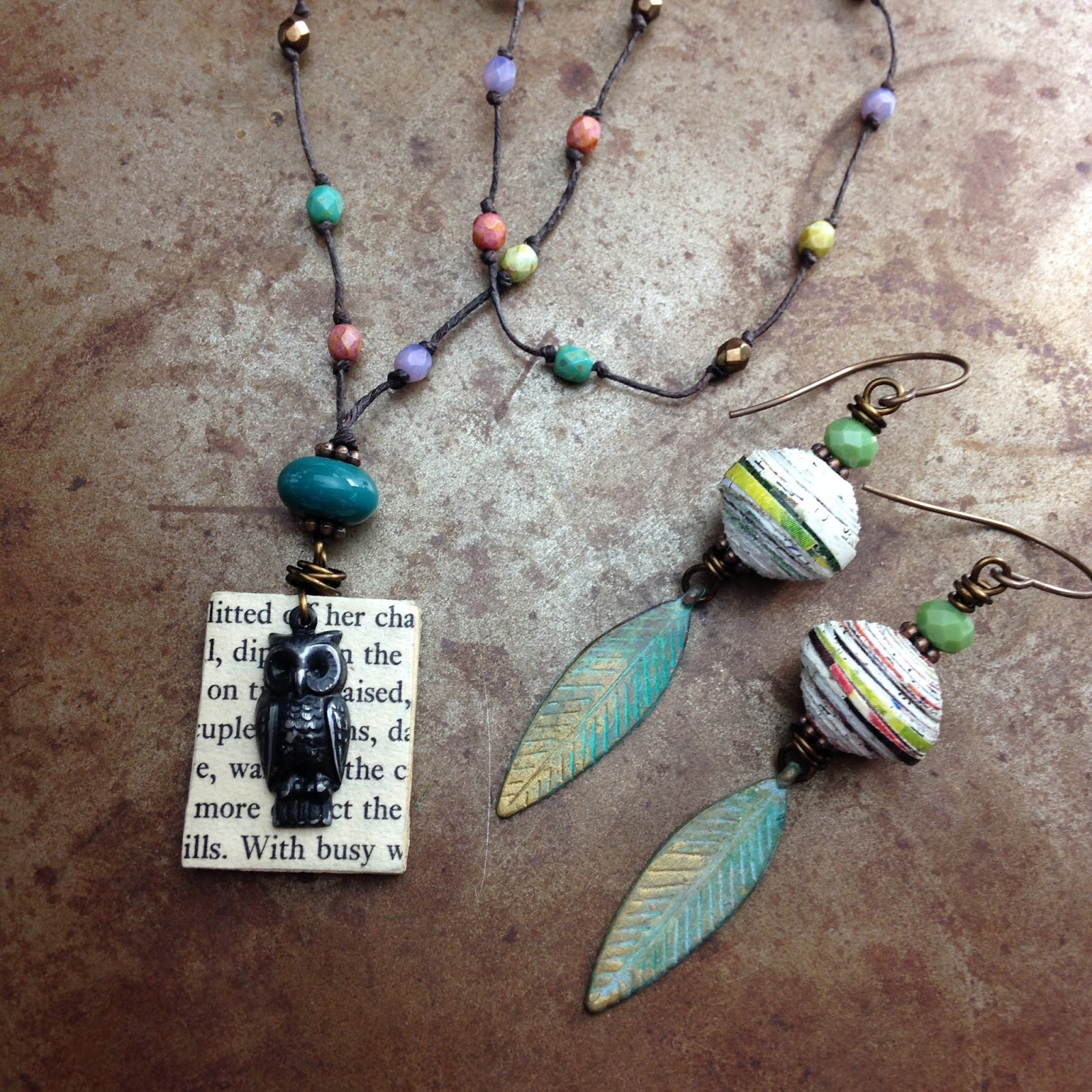 Blog humblebeads love being green i have quite a few projects that upcycle paper into beads and pendants little book pendants and paper beads from magazines give you a solutioingenieria Images