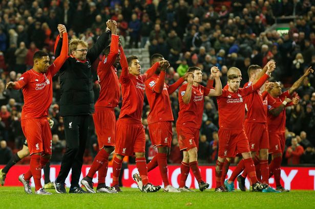 Liverpool FC players celebrate emphatic victory over Southampton