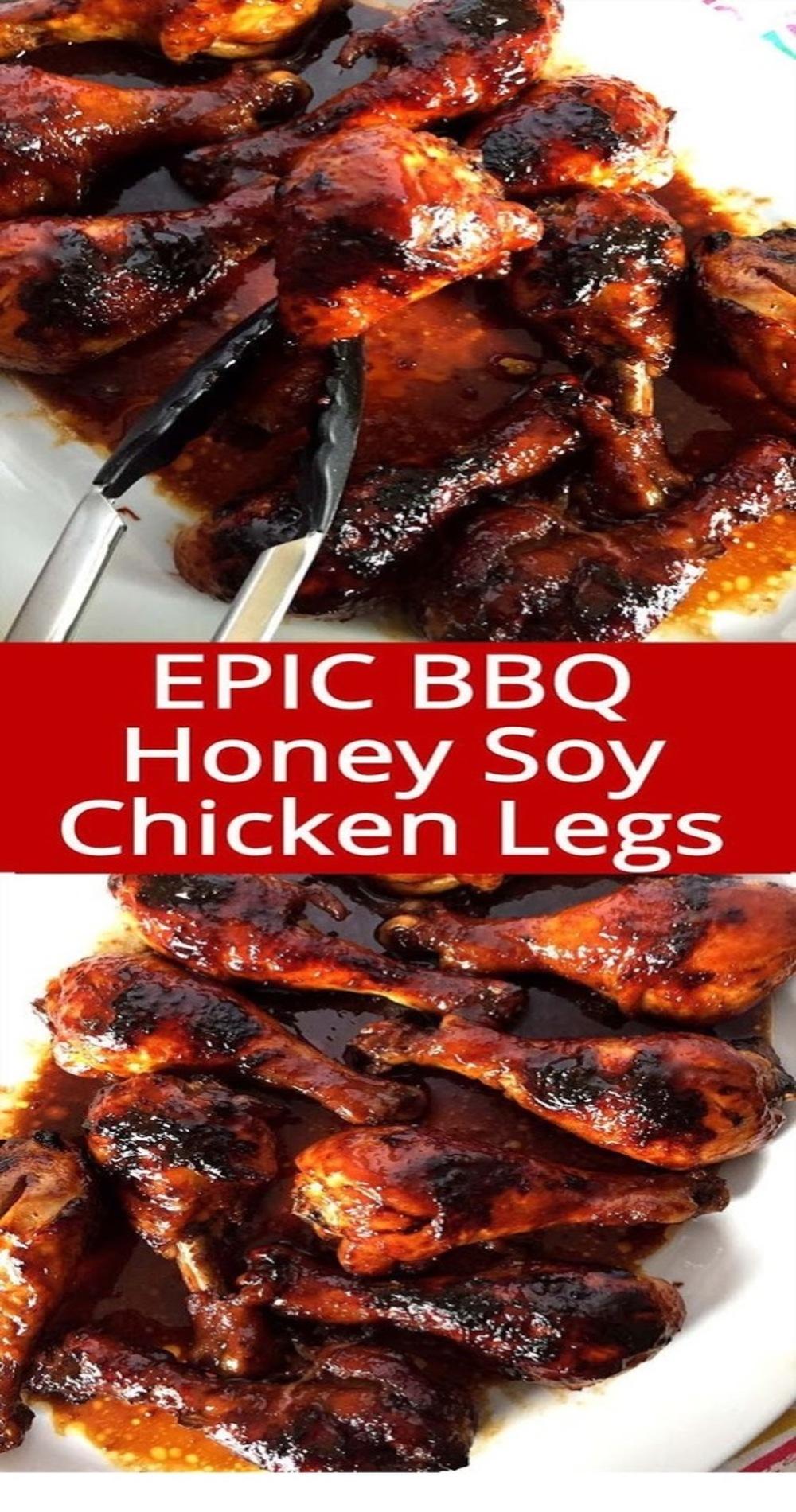 Honey Soy BBQ Baked Chicken Legs