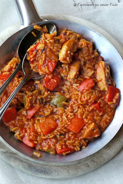 Experimente aus meiner Küche: Paprika-Puten-Reis