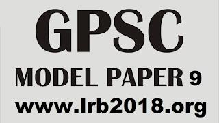 GPSC MODEL PAPER 9