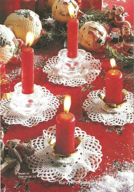 Dekoracyjne świeczniki na szydełku - schemat i opis