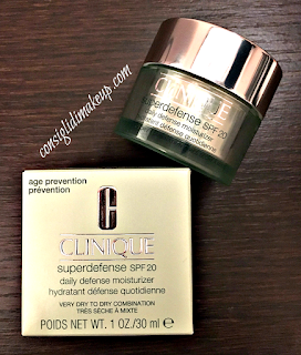 Review: Superdefense Daily Defence Moisturizer SPF 20 - Clinique