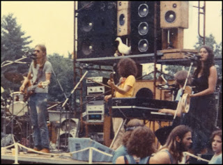 In the spirit of … Max Creek The band on stage, probably in the late 1970s, (from left) Scott Murawski, John Rider, Mark Mercier and Amy Fazzano.