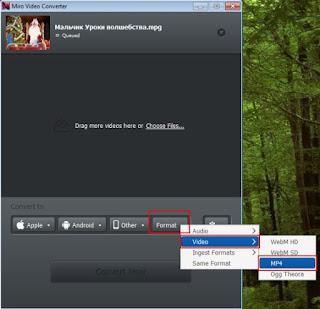Как конвертировать видео MPEG в MP4