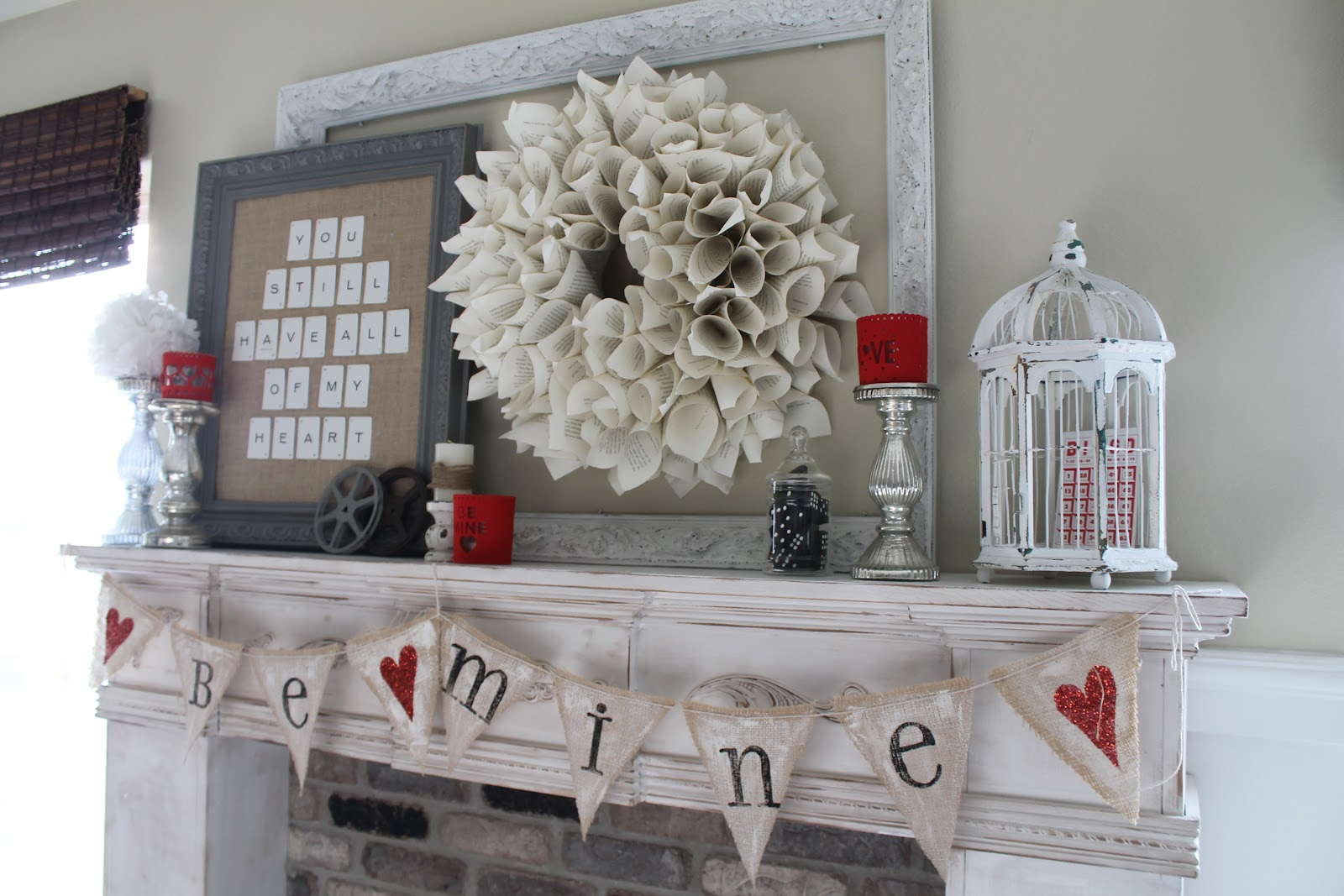 Whimsical Treasures Valentine Mantel