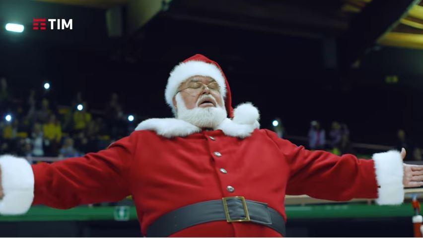 Canzone Tim pubblicità supergiga 10 e lode - con Babbo Natale che fa le capriole