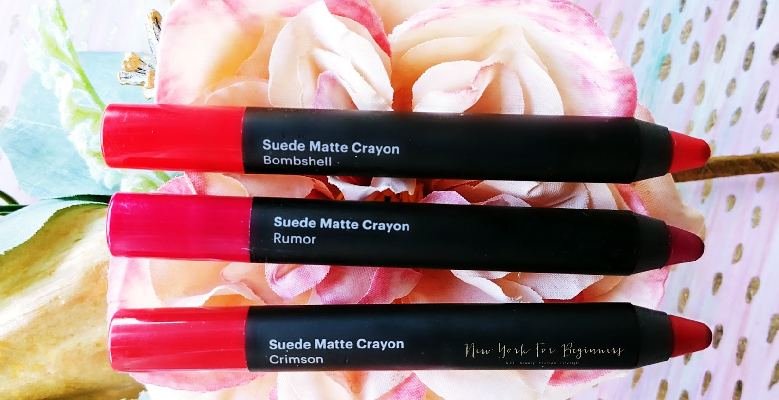 Glo Beauty Suede Matte Crayon review for dry lips at New York For beginners
