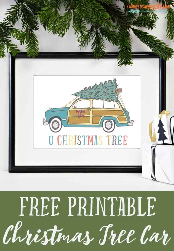 image regarding Free Printable Christmas Tree identify No cost Printable Xmas Tree Automobile i really should be mopping the