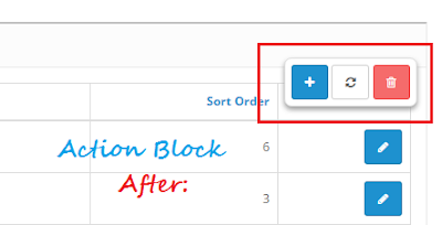 Opencart Tutorial: Make the Actions Block Sticky in Admin Section