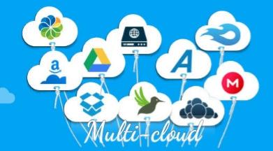 التخزين السحابي cloud storage على السحابة المتعددة Multi-cloud
