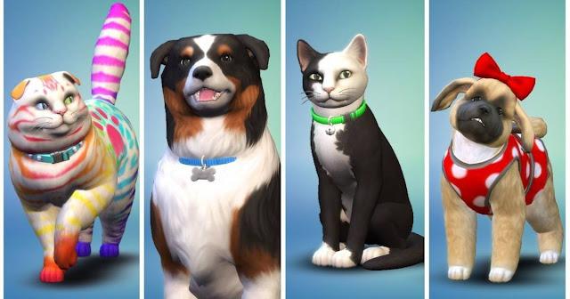 """Mascotas del juego Los Sims 4 """"Perros y Gatos"""""""