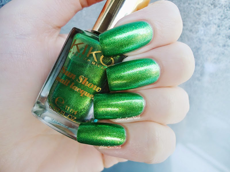 Kiko Sun Show 476 Joyful Emerald: swatches and review