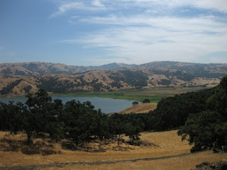 Southern end of Calaveras Reservoir, above Milpitas, California